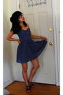Blue-h-m-dress-black-kg-shoes-black-urban-outfitters-glasses-black-accesso