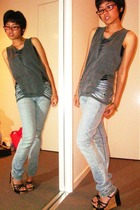 top - jeans - shoes