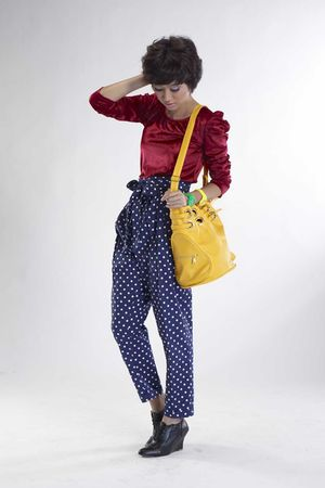 red iconia top - blue ICONIA pants - gold iconia - gold iconia - green iconia -