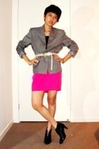 blazer - skirt - shoes
