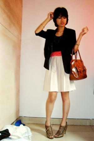 blazer - dress - Bag - shoes