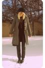 Gray-lux-uo-coat-black-forever-21-pants-black-nordstrom-boots-target-shirt