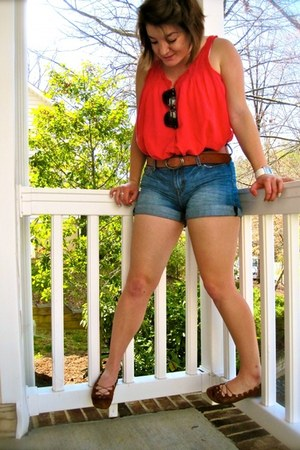 Zara shorts - American Eagle shirt