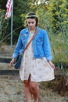 vintage dress - vintage jacket - OASAP purse - DIY hair accessory