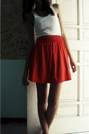 orange Divided by H&M skirt - white Kamiseta blouse