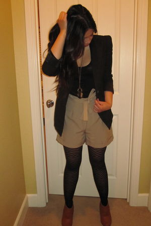 black Target tights - black Forever 21 blazer - Forever 21 accessories