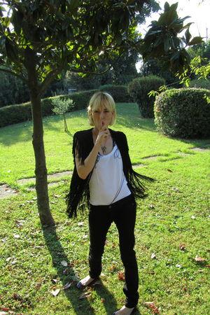 black veronica venturini dress - black Bershka jeans - H&M t-shirt - pamela love