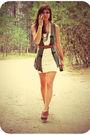 Beige-papaya-dress-brown-target-shoes-green-tj-maxx-vest-gold-forever-21-n