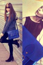 blue satchel satchel bag - brown leather Jeffrey Campbell boots