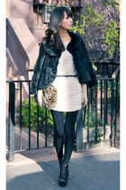 cape fur vintage coat - misspouty dress