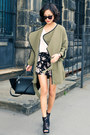 Olive-green-misspouty-coat-black-trapeze-celine-bag