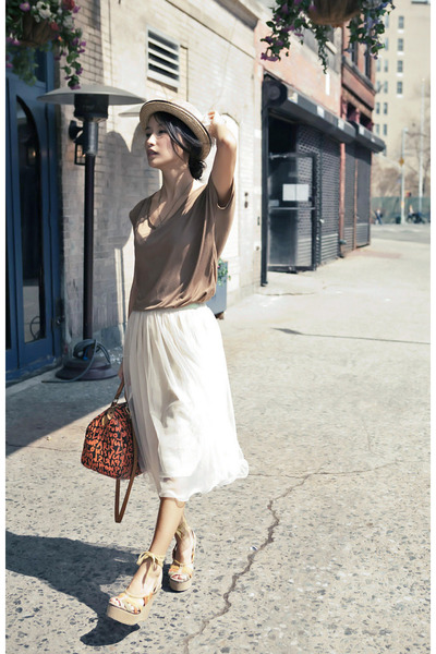 beige wwwmisspoutycom hat - neutral long mesh wwwmisspoutycom skirt - tan summer