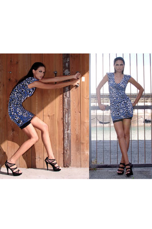 blue Forever 21 dress - black Forever 21 shoes