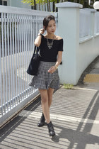 The Houndstooth Trumpet Skirt
