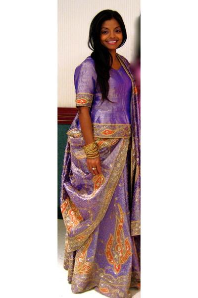 Violet lengha choli haute culture dresses red haute for Haute culture