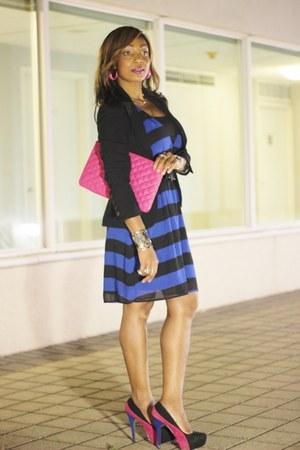 H&M dress - Marshalls purse - Qupid pumps