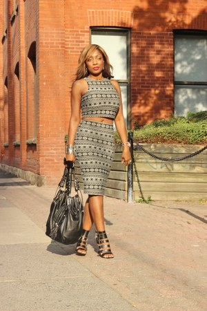 gifted bag - Marshalls top - Forever 21 heels - Marshalls skirt