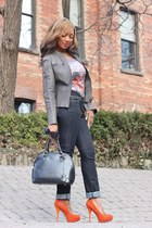Urban Outfitters jeans - Diesel jacket - Ebay bag - Style Luxe pumps