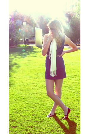 American Apparel dress - American Apparel tights - scarf - shoes