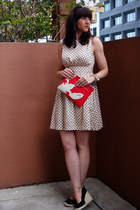 oversized Michael Kors watch - polka dot Luxe No 7 dress - lobster Tibi bag