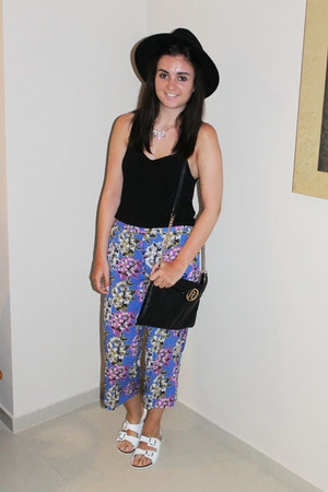 black Miss Selfridge hat - black River Island bag - black Topshop top