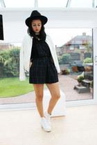 Miss Selfridge hat - Topshop shoes - Boohoo jacket - Missguided top
