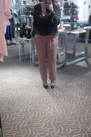 house of harlow blouse - le chateau heels - Costa Blanca pants