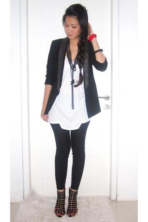 black Zara blazer - black shoes