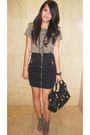 Green-zara-t-shirt-black-river-island-skirt-black-f21-necklace-black-balen