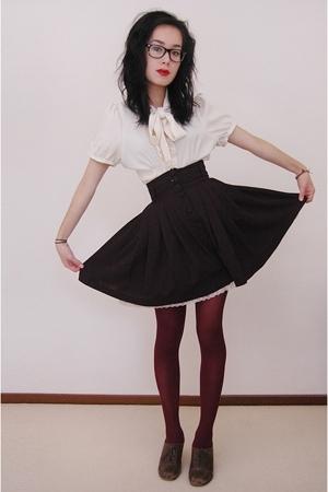 shirt - skirt - tights - shoes