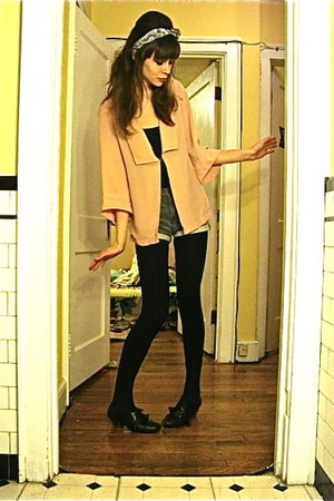black Chelsea Crew shoes - light pink thrifted Sparkle & Fade blazer