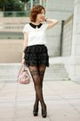 Light-pink-bow-satchel-miu-miu-bag-white-primark-top-black-lace-tulle-skirt