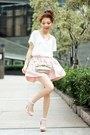 Light-pink-thai-silk-skirt-light-pink-bow-polka-dots-red-valentino-bag