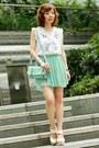 Satchel-bag-heels-pleated-skirt-blouse-accessories