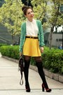 White-studded-collar-shirt-black-tights-dark-brown-satchel-bag
