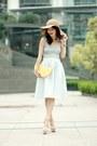 Tan-floppy-hat-h-m-hat-yellow-lemon-clutch-monki-bag-white-topshop-top
