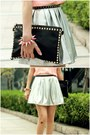 Skirt-lace-up-boots-gold-studs-bag-gold-studs-belt-lulus-blouse