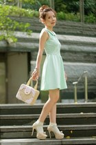 aquamarine H&M dress - light pink mini picnic bag bag