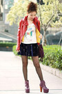 Blue-velvet-crosses-skirt-magenta-litas-jeffrey-campbell-boots