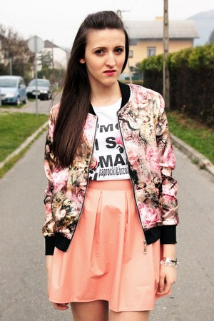 light pink modaclub jacket - white paprocki&brzozowski shirt
