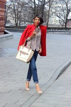 Incity coat - Incity jeans - PERSUNMALL shirt - new look bag - Zara heels