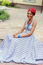 blue ankara dress