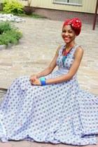 blue ankara dress