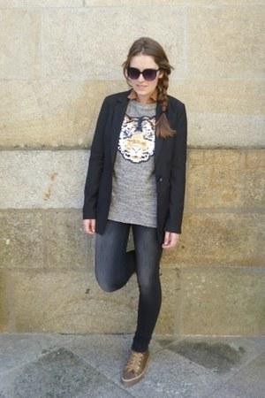 charcoal gray Pull & Bear jumper