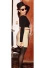Black-hat-black-tights-beige-skirt-tawny-belt-black-top