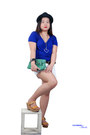 Black-hat-green-purse-white-shorts-tawny-wedges-blue-top