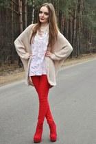light pink H&M sweater