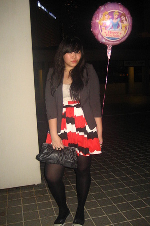 blazer - skirt - tights - shoes