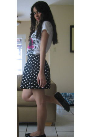 white Forever21 shirt - black Forever21 skirt - black Aldo shoes