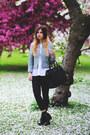 Black-h-m-boots-black-oasis-jeans-aquamarine-topshop-jacket